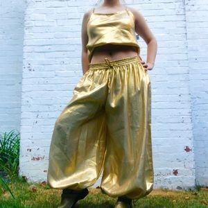 Pants - Amazing gold pants suit costume!
